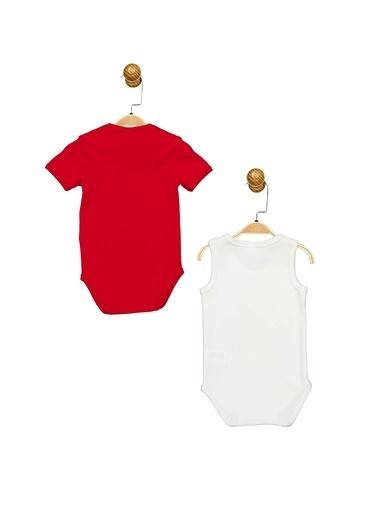 Minnie Mouse Lisanslı Bebek 2'Li Body 17359 Kırmızı